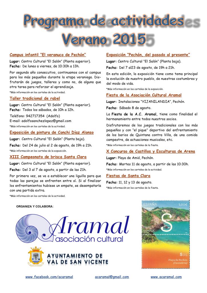 Programa Verano 2015 Cartel